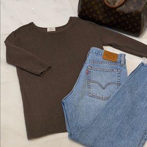 Aritzia Wilfred crewneck textured sweater